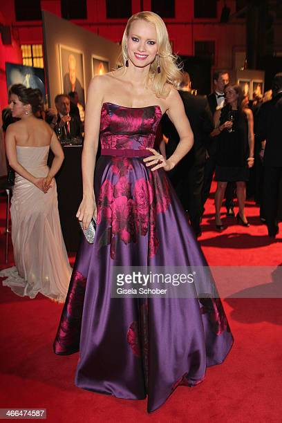 Franziska Knuppe attends the Goldene Kamera 2014 at Tempelhof Airport Hangar 7 on February 1 2014 in Berlin Germany