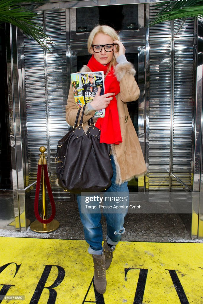 Franziska Knuppe attends the Grazia Pop Up Casino during the Mercedes Benz Fashion Week Autumn/Winter 2013/14 at the Restaurant Uma on January 16, 2013 in Berlin, Germany.