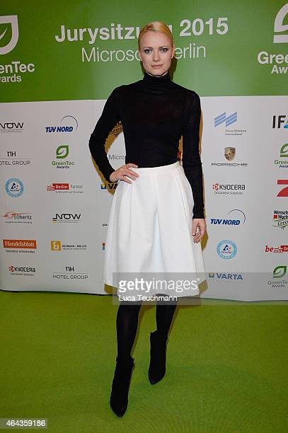 Franziska Knuppe attends the GreenTec Awards Jury Meeting 2015 at Microsoft Berlin on February 25 2015 in Berlin Germany
