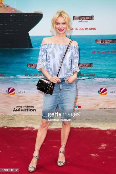 Franziska Knuppe attends the 'Hotel Transsilvanien 3' premiere at CineStar on July 8 2018 in Berlin Germany