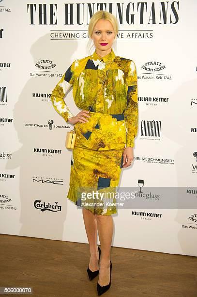 Franziska Knuppe attends the Kilian Kerner show during the MercedesBenz Fashion Week Berlin Autumn/Winter 2016 at Ellington Hotel on January 20 2016...