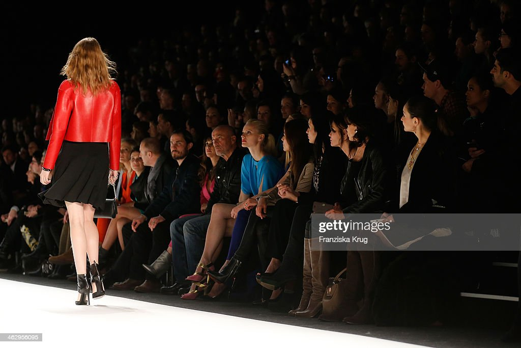 Franziska Knuppe attends the Laurel show during Mercedes-Benz Fashion Week Autumn/Winter 2014/15 at Brandenburg Gate on January 16, 2014 in Berlin, Germany.