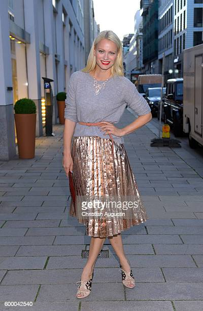 Franziska Knuppe attends the Lidl popup store opening at Neuer Wall on September 7 2016 in Hamburg Germany
