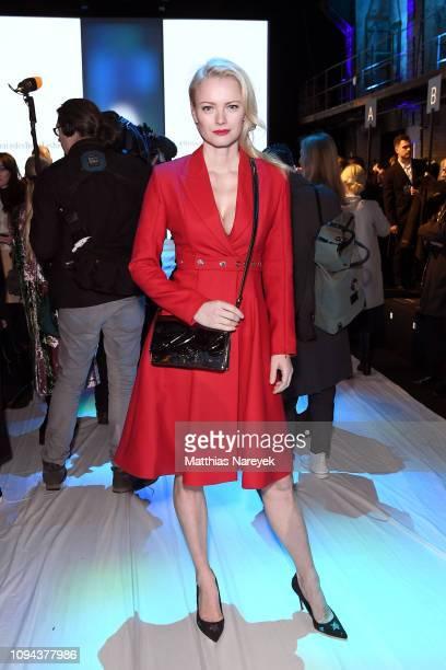 Franziska Knuppe attends the MercedesBenz Presents Amesh Wijesekera show during the Berlin Fashion Week Autumn/Winter 2019 at ewerk on January 15...