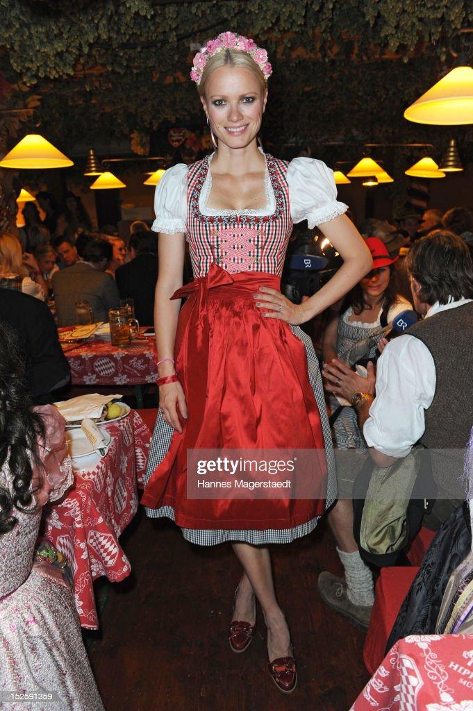 Franziska Knuppe attends the Oktoberfest beer festival at Hippodrom on September 22, 2012 in Munich, Germany.