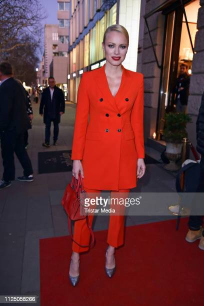 Franziska Knuppe attends the 'Peter Lindbergh Women Stories' world premiere after show party during the 69th Berlinale International Film Festival at...