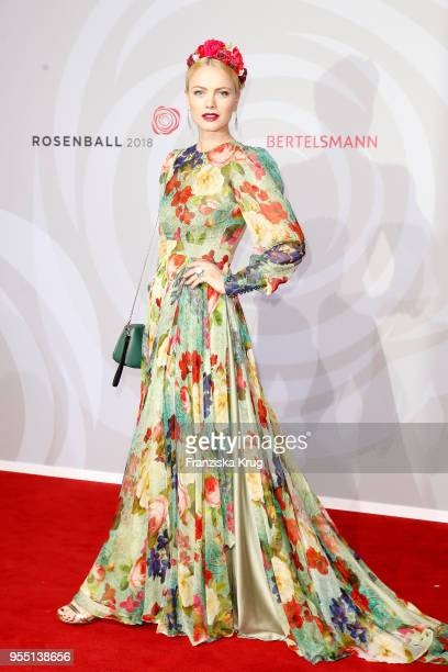 Franziska Knuppe attends the Rosenball charity event at Hotel Intercontinental on May 5 2018 in Berlin Germany