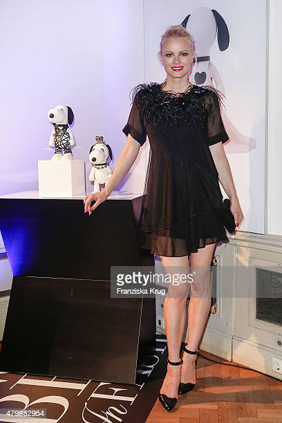 Franziska Knuppe attends the Snoopy Belle Vernissage at MercedesBenz Fashion Week Berlin Spring/Summer 2016 at Ermelerhaus on July 08 2015 in Berlin...
