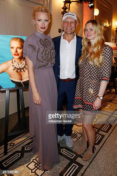 Franziska Knuppe Axel Schulz and Britta Steffen attend Lambertz presents calendar 2016 at Hotel De Rome on November 17 2015 in Berlin Germany