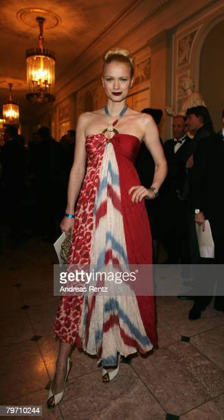 Franziska Knuppe during 7th Annual Cinema For Peace Gala sponsored by BMW CleanEnergy part of the 58th Berlinale International Film Festival held at...
