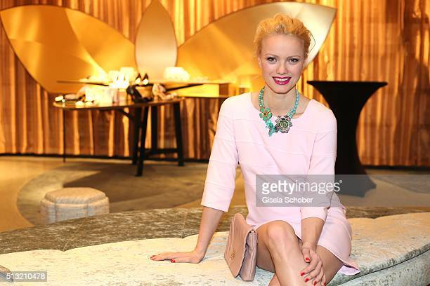 Franziska Knuppe during the 'Accessoire Paradies' opening at KONEN on March 1 2016 in Munich Germany