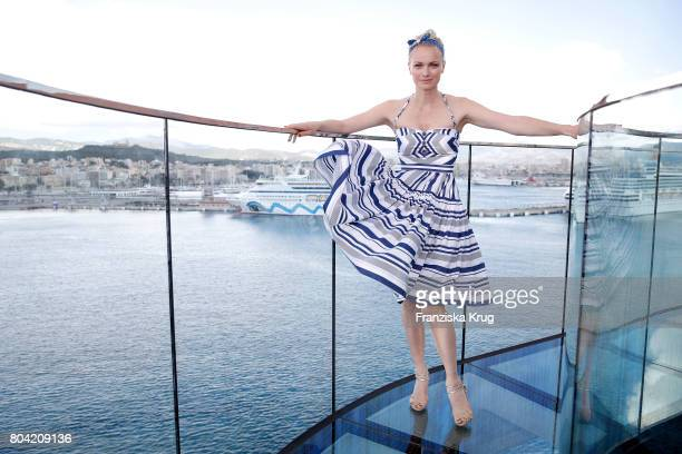 Franziska Knuppe during the AIDA Cruise Ship Launching Ceremony on June 30 2017 in Palma de Mallorca Spain