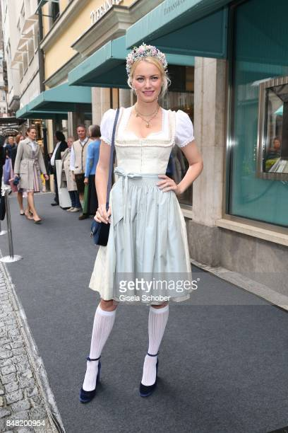 Franziska Knuppe during the 'Fruehstueck bei Tiffany' at Tiffany Store ahead of the Oktoberfest on September 16, 2017 in Munich, Germany.