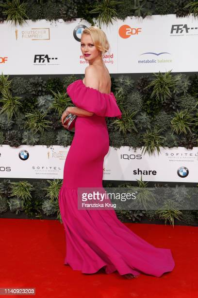 Franziska Knuppe during the Lola - German Film Award red carpet at Palais am Funkturm on May 3, 2019 in Berlin, Germany.