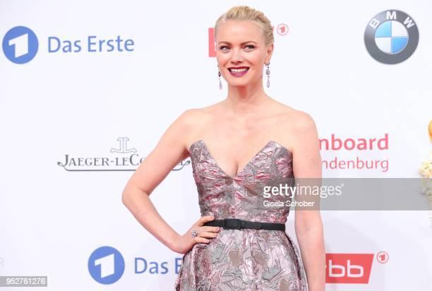Franziska Knuppe during the Lola German Film Award red carpet at Messe Berlin on April 27 2018 in Berlin Germany