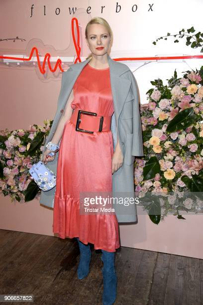 Franziska Knuppe during the Marina Hoermanseder Defile during 'Der Berliner Salon' AW 18/19 at Von Greifswald on January 18, 2018 in Berlin, Germany.