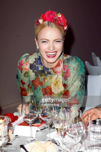 Franziska Knuppe during the Rosenball charity event at Hotel Intercontinental on May 5 2018 in Berlin Germany