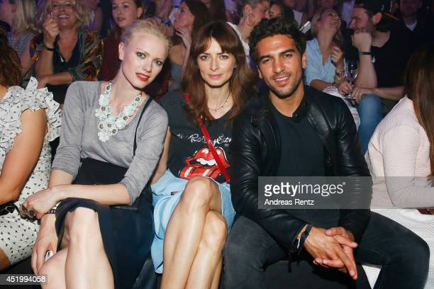 Franziska Knuppe, Eva Padberg and Elyas M'Barek attend the Reserved - Let's Fashion Party at the Mercedes-Benz Fashion Week Spring/Summer 2015 at...