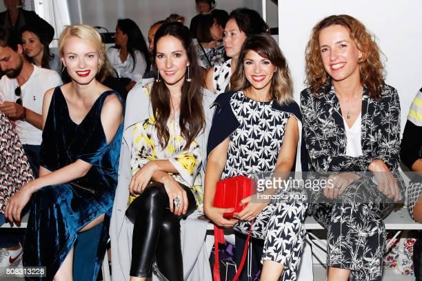 Franziska Knuppe Johanna Klum Anna Angelina Wolfers and Ulrike Beck attend the Laurel show during the MercedesBenz Fashion Week Berlin Spring/Summer...