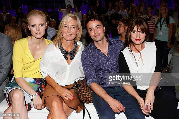 Franziska Knuppe Judith Milberg Nikolai Kinski and Ina Paule Klink attend the Laurel show during the MercedesBenz Fashion Week Spring/Summer 2015 at...