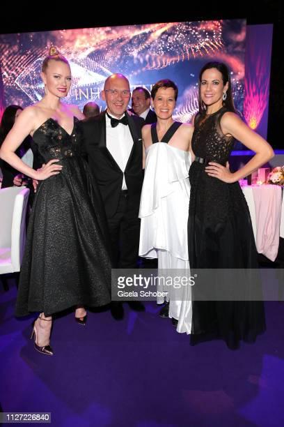 Franziska Knuppe Klaus Dittrich CEO of Inhorgenta Munich and his wife Margit Dittrich and Bettina Zimmermann during the INHORGENTA Awards at Eisbach...