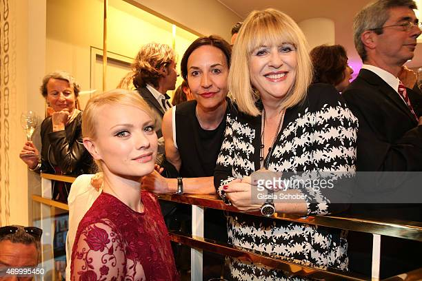Franziska Knuppe Petra Pfaller and Patricia Riekel during the 50th Anniversary of AIGNER on April 16 2015 in Munich Germany