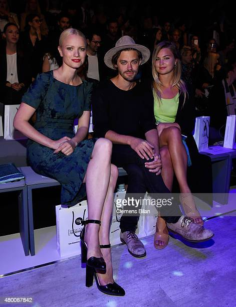 Franziska Knuppe Tom Payne and Jennifer Akerman attend the 'Designer for Tomorrow' by Peek Cloppenburg and Fashion ID show during the MercedesBenz...