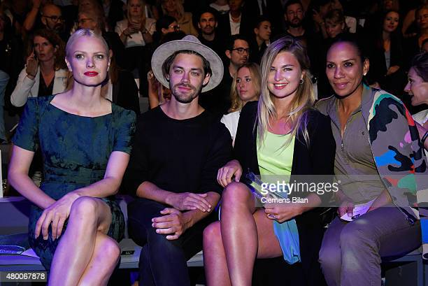 Franziska Knuppe Tom Payne Jennifer Akerman and Barbara Becker attend the 'Designer for Tomorrow' by Peek Cloppenburg and Fashion ID show during the...