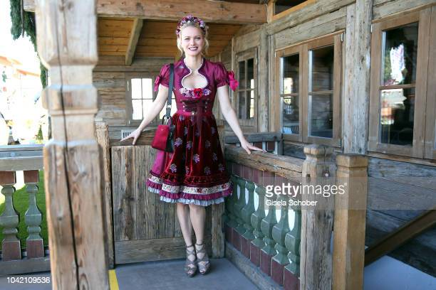 Franziska Knuppe wearing a Dirndl by Lola Paltinger during the BUNTE Wiesn Lunch at Oktoberfest 2018 at Theresienwiese on September 27 2018 in Munich...