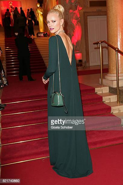 Franziska Knuppe wearing a dress by Aigner during the 27th ROMY Award 2015 at Hofburg Vienna on April 16 2016 in Vienna Austria