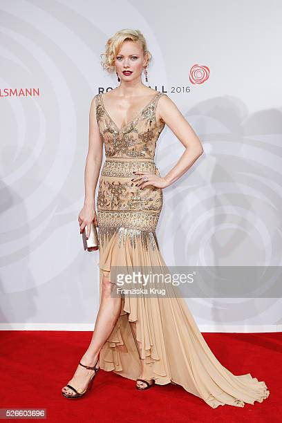 Franziska Knuppe wearing a dress by Brian Rennie Couture jewellery by Chopard and Jimmy Choo shoes attends the Rosenball 2016 on April 30 in Berlin...