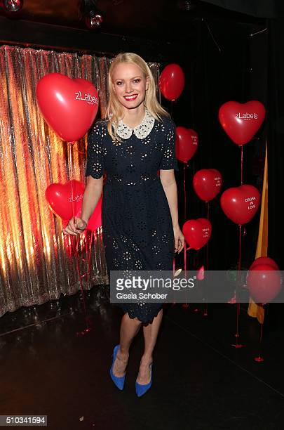 Franziska Knuppe wearing a dress by mintberry during the 'Drunk In Love' Party hosted by Constantin Film and zLabels on February 14 2016 in Berlin...