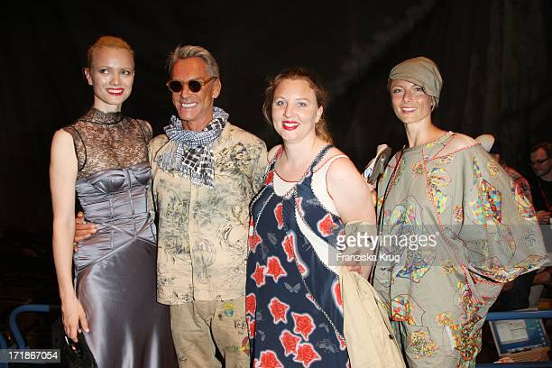 "Franziska Knuppe, Wolfgang Joop And His Daughter Florentine at the ""Michalsky"" Party In The ""Mercedes Benz Fashion Week"" in Berlin"