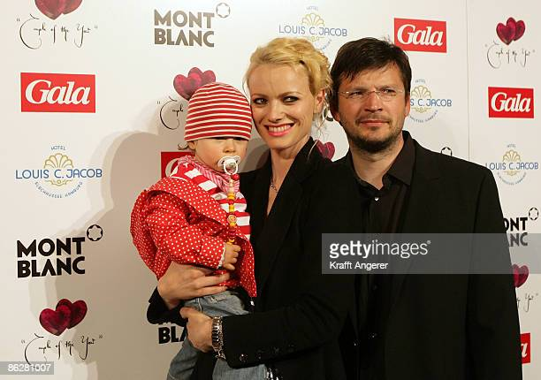 Franziska KnuppeMoestl and husband Christian Moestl and daughter Mathilda winner of the Parents Couple Of The Year 2009 Award pose at the Couple of...