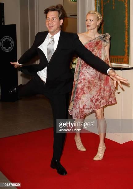 Franziska KnuppeMoestl and Thomas Heinze attend the Montblanc De La Culture Arts Patronage Award 2010 at Hotel de Rome on June 8 2010 in Berlin...