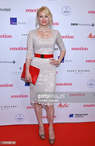 Franziska Knuppe-Moestl attends Emotion Award at the Laeiszhalle on June 9, 2015 in Hamburg, Germany.