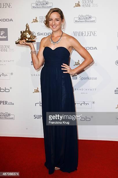 Franziska Preu§ attends Madeleine At Goldene Henne 2015 on September 05 2015 in Berlin Germany