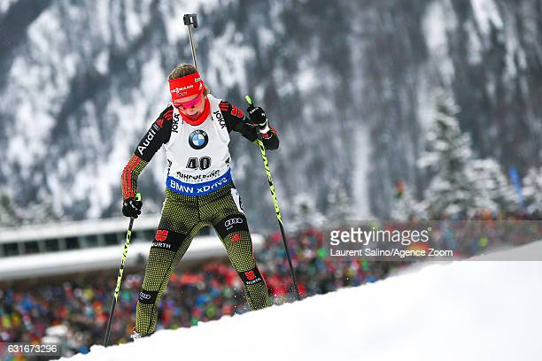 Franziska Preuss of Germany competes during the IBU Biathlon World Cup Women's Sprint on January 14 2017 in Ruhpolding Germany
