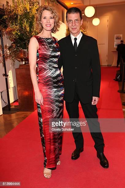 Franziska Reichenbacher and her husband Alfred Joseph Schneiberg during the Spring Ball Frankfurt 2016 on March 5 2016 at Palmengarten in Frankfurt...