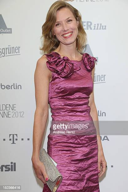 Franziska Reichenbacher arrives for the 'Goldene Henne' 2012 award on September 19 2012 in Berlin Germany