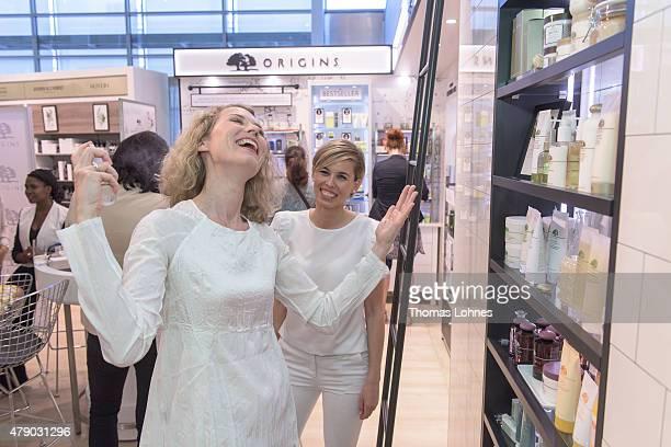 Franziska Reichenbacher attend the Origins flagship counter opening at Douglas on June 29 2015 in Frankfurt am Main Germany