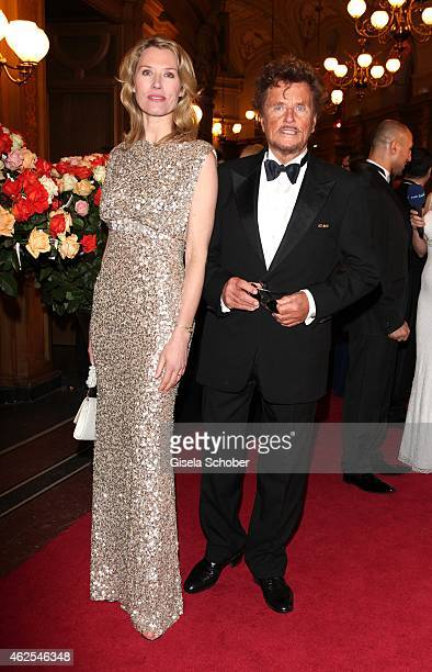 Franziska Reichenbacher Dieter Wedel during the Semper Opera Ball 2015 at Semperoper on January 30 2015 in Dresden Germany