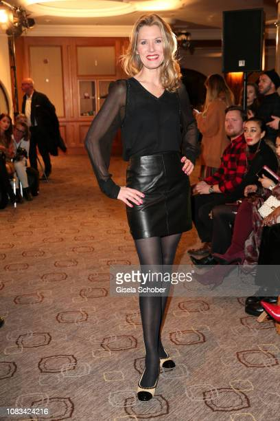 Franziska Reichenbacher during the Marcel Ostertag show as part of the Berlin Fashion Week Autumn/Winter 2019 at Westin Grand Hotel on January 16...