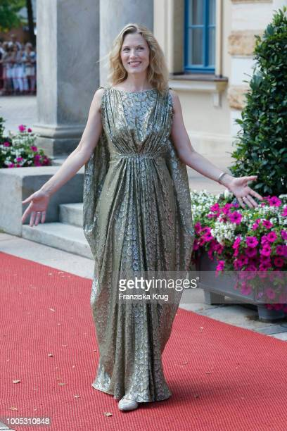 Franziska Reichenbacher during the opening ceremony of the Bayreuth Festival at Bayreuth Festspielhaus on July 25 2018 in Bayreuth Germany