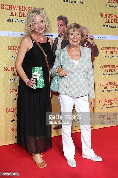 Franziska Schlattner and Jutta Speidel during the premiere of the film 'Schweinskopf al dente' at Mathaeser Filmpalast on August 2 2016 in Munich...