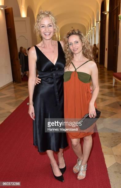 Franziska Schlattner and Sara Sommerfeldt attend the Bernhard Wicki Award 2018 during the Munich Film Festival 2018 at Cuvilles Theatre on July 5...