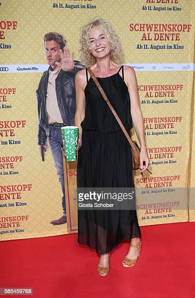 Franziska Schlattner during the premiere of the film 'Schweinskopf al dente' at Mathaeser Filmpalast on August 2 2016 in Munich Germany