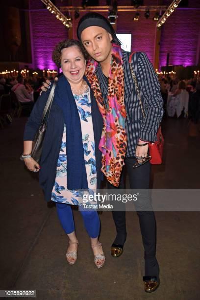 Franziska Traub and Julian F M Stoeckel during the plus size model award show 'Fraeulein Kurvig' at Kunstwerk Moechengladbach on September 1 2018 in...
