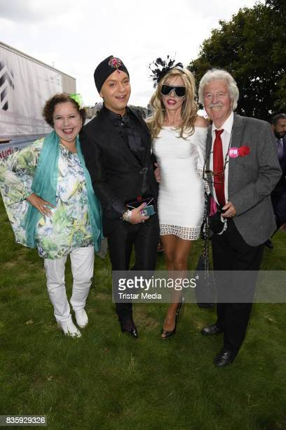 Franziska Traub Julian Stoeckel Gisela Muth and her husband HansGeorg Muth during the Audi Ascot Race Day 2017 on August 20 2017 in Hanover Germany