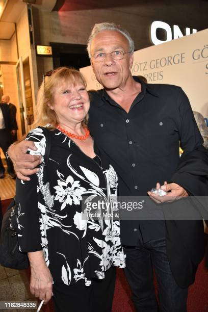 Franziska Troegner and Klaus J Behrendt attend the Goetz George Award at Astor Film Lounge on August 19 2019 in Berlin Germany